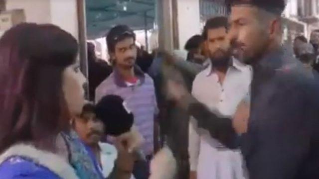 Viral Video FC Guard slaps female journalis