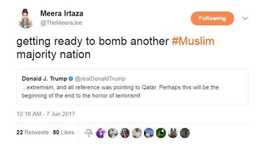 Meera Tweets Trump 1