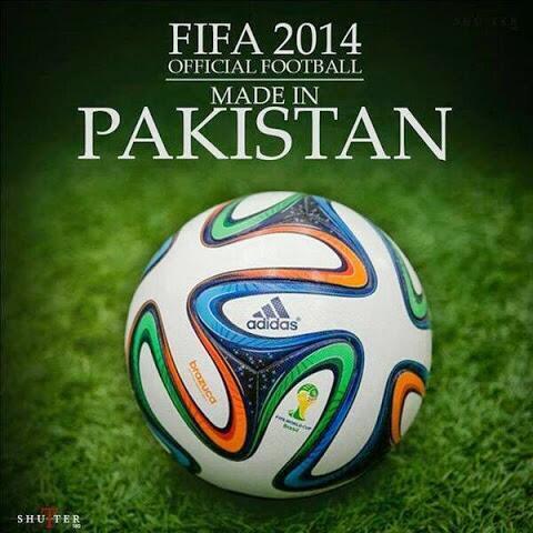 Football made in Pakistan