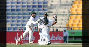 Sarfraz Ahmed attempts to take a catch, Pakistan v Sri Lanka, 1st Test, 1st day, Abu Dhabi, 28 September, 2017 Photo Courtesy: ESPN Cricinfo ©Tom Dulat/Stringer