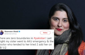 Sharmeen Obaid-Chinoy sexual harassment tweet