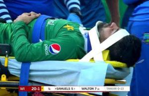 Ahmed Shehzad Injured