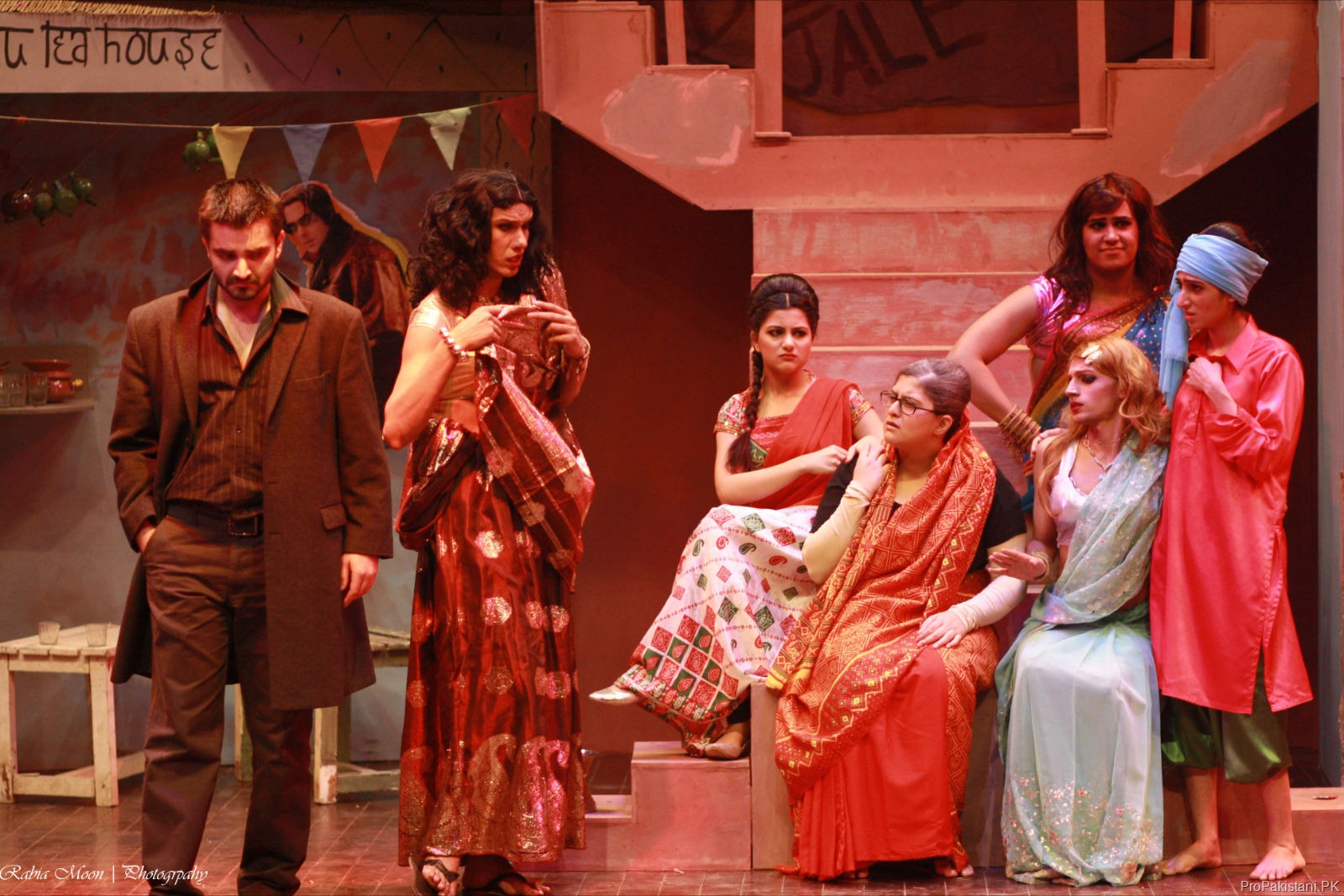 "Hamza Ali Abbasi performing in ""Bombay Dreams"""