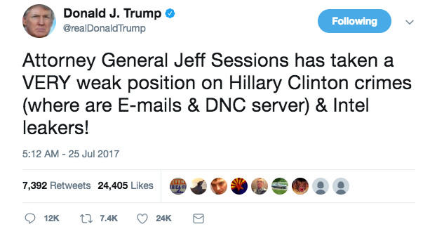 Jeff Sessions Trump Tweet