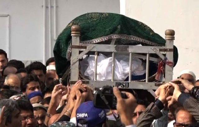 5 January 2018: Pakistan's most prolific chef, Zubaida Tariq, a.k.a Zubaida apa is laid to rest in Karachi.